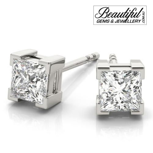1-Carat-Princess-Diamond-Stud-Earrings-Box-Claw-Setting-in-White-Gold-1