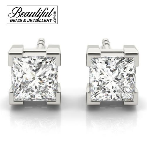 1-Carat-Princess-Diamond-Stud-Earrings-Box-Claw-Setting-in-White-Gold