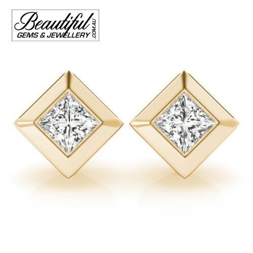 1_Carat_Diamond_Stud_Earrings_Round_Brilliant_Full_Wide_Bezel_Setting_in_18ct_Yellow_Gold_1