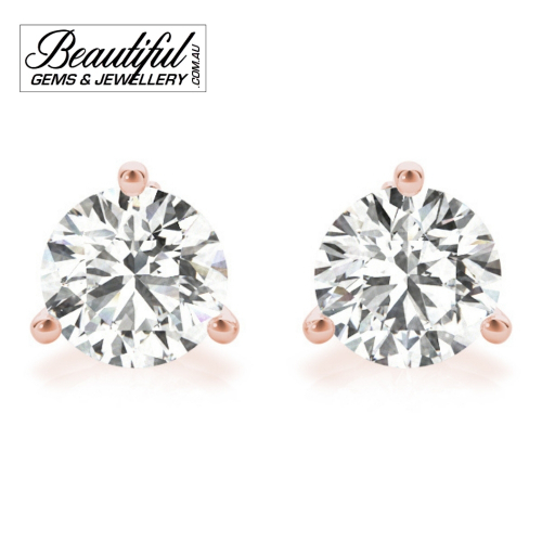 1_Carat_Diamond_Stud_Earrings_Round_Martini_Set_in_18ct_Rose_Gold_1