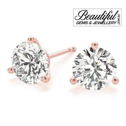 1_Carat_Diamond_Stud_Earrings_Round_Martini_Set_in_18ct_Rose_Gold_2