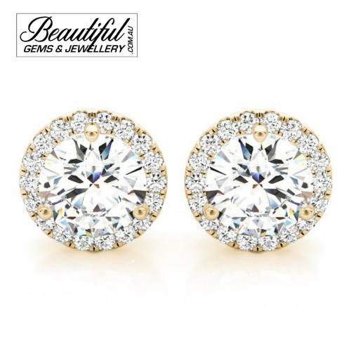 1_Carat_Halo_Diamond_Stud_Earrings_Round_Halo_Setting_in_18ct_Yellow_Gold