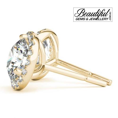 1_Carat_Halo_Diamond_Stud_Earrings_Round_Halo_Setting_in_18ct_Yellow_Gold_1