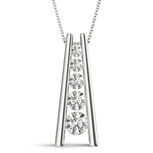 Diamond-Pendant-1-Carat-Graduated-Channel-Set-Necklace-18K-White-Gold-1