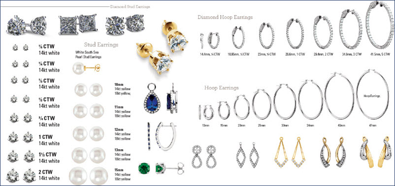 Diamond_Stud _Earrings _1 _Carat_Available_Styles