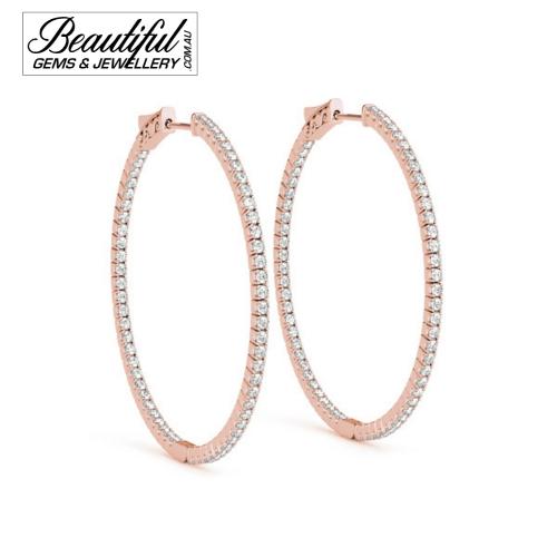 Hoop-Earrings-Pave-0.2-Carat-Diamonds-Rose-Gold