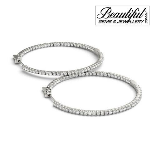 Hoop-Earrings-Pave-0.2-Carat-Diamonds-White-Gold-1
