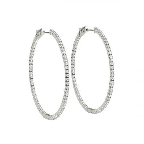 Hoop-Earrings-Pave-0.2-Carat-Diamonds-White-Gold