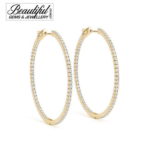 Hoop-Earrings-Pave-0.2-Carat-Diamonds-Yellow-Gold