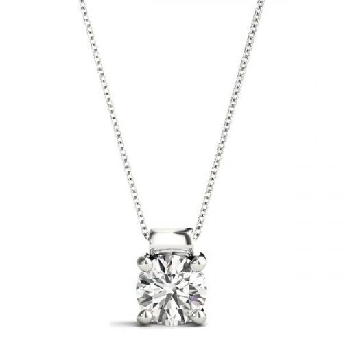 Laboratory-Created-1.25-Carat-Diamond-Pendant-18ct-White-Gold-1